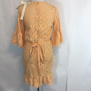 c0475558a5 Winona Australia Dresses - Winona Valerie Wrap Dress Size 6 Apricot Eyelet